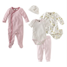 wardrobe sets from tea collection save a lot of time. you pretty much can not go wrong with this adorable company, which sends its designers on world travels for inspiration. cute stuff, great quality, everyone loves it    http://www.teacollection.com/