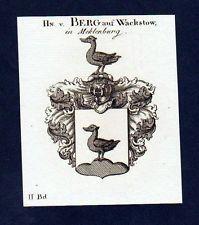 1780 - Herren von Berg Original Kupferstich Wappen coat of arms Heraldik