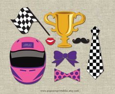 Race Car Photo Booth Props DIY Instant by PopcornPrintables