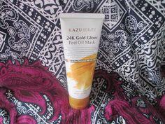 Whats Inside Your Beauty Bag?: Kazu Beauty 24K Gold Glow Peel Off Mask