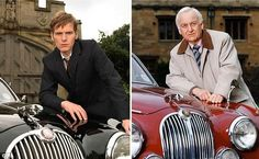 Shaun Evans and John Thaw as Endeavour Morse. Famous footsteps: Shaun Evans (Endeavour) is stepping into John Thaw's shoes to play the younger version of Colin Dexter's iconic character, Inspector Morse. Inspector Lewis, Inspector Morse, Masterpiece Mystery, Masterpiece Theater, Shaun Evans, The Sweeney, Endeavour Morse, Tv Detectives, Famous Detectives