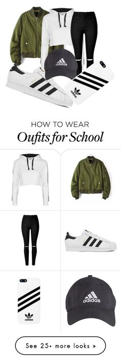 school trip by damarisvasco on Polyvore featuring adidas, Topshop and ADDIDAS