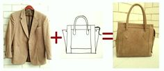 Bags you can make: Tutorial: How I Made a Bag from a Jacket - step by step Photo tutorial - Bildanleitung