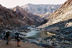 hiking in fishriver canyon - namibia