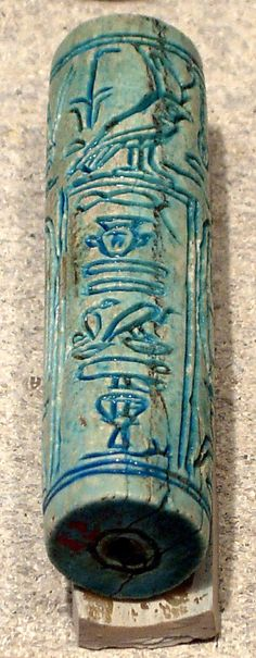 Cylinder Seal of Amenemhat Senbef Period: Late Middle Kingdom Dynasty: Dynasty 13 Reign: reign of Amenemhat-senebef Date: ca. 1799–1795 B.C. Geography: From Egypt, Southern Upper Egypt, el-Moalla (Mialla, Mualla)