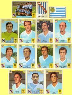 Panini stickers 1970 FIFA World Cup Mexico - Uruguay squad