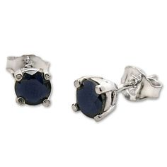 India – Gujarat | Stud Earrings with blue Sapphire