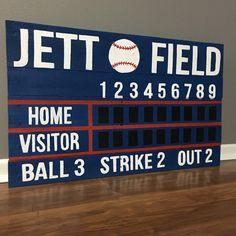 Custom Baseball Softball Wooden Pallet Scoreboard