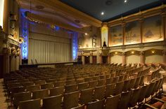 The interior of the Fox Theater in Spokane, Washington, which opened in Image courtesy NAC Architecture. All month long in October Curbed and National Trust for Historic. Theater Architecture, Revival Architecture, Theater Room Decor, Home Theater Rooms, Egyptian Theater, Local Movies, Concert Hall, Movie Theater, Great Movies