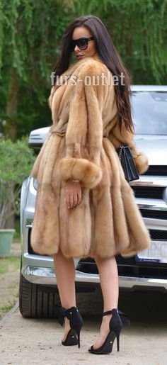 NEW GOLD RUSSIAN SABLE FUR TRENCH COAT CLAS JACKET MINK FOX LYNX CHINCHILLA VEST | eBay
