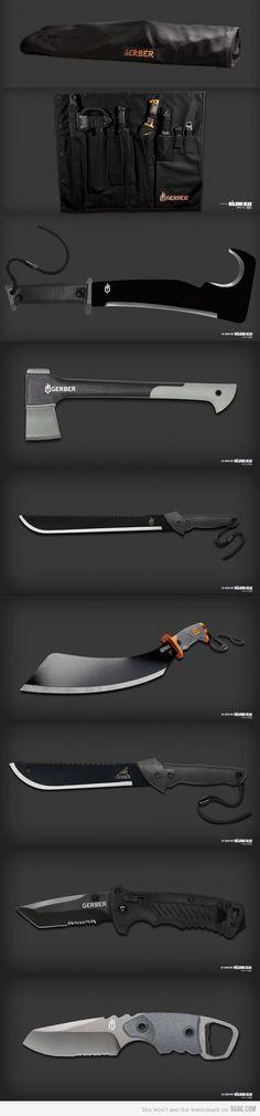 Knives and axes Basic Gear. gosta de cortar as coisas então corte
