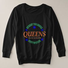 Women's Size French Terry Blk Sweatshirt w/Queens  $65.90  by MeaningfulChoice  - custom gift idea