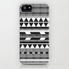 DG Aztec No.1 Monotone iPhone Case by Dawn Gardner - $35.00