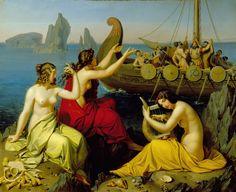 "1829, ""Odysseus and the Sirens"" - Alexander Bruckmann (1806 – 1852) . Oil on canvas."