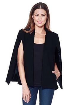cape jacket a+d womens woven structured cape blazer suit jacket w/ pockets (black, x-large) bpmsfhh Capes For Women, Blazers For Women, Suits For Women, Jackets For Women, Women's Blazers, Blazer Suit, Blazer Jacket, Sleeveless Blazer, Cape Jacket