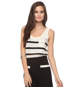 Lace Stripes Tank  $9.80