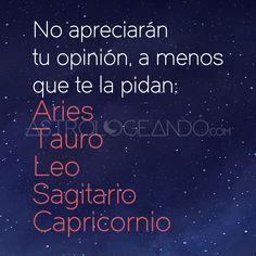 #Aries #Tauro #Leo #Sagitario #Capricornio #Astrología #Zodiaco #Astrologeando astrologeando.com