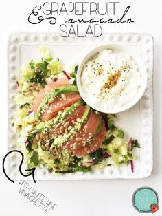 Grapefruit & Avocado Salad with White Wine Vinaigrette — The Skinny Fork