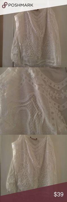Soft surroundings top Soft surroundings crochet cotton lined top soft surroundings Tops Tank Tops