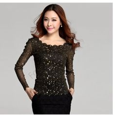 Long sleeve shirt 100% Brand New. Material: Polyester Occasion: Casual Collar: O-Neck Color: Black, Blue  Asian M (US S(4) ,UK 6, AU 8) Asian L (US M(8-10),UK 10, AU 12) Size: M, L, available for the following listing. please allow 1-2cm differs due to manual measurement, thanks (All measurement in cm and please note 1cm=0.39inch Tops Tees - Long Sleeve