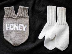 Parilapasen neuleohje Mittens, Knit Crochet, Gloves, Sewing, Knitting, Winter, Handmade, Gifts, Couple