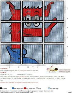 Dr. Seuss Letter F  9 Piece Puzzle
