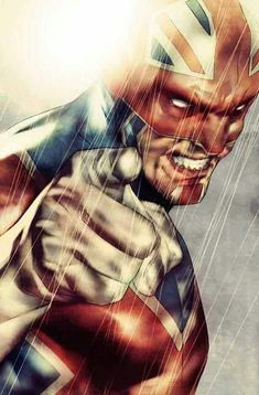 Captain Britain. I had no idea this guy existed! I must find the comics #comicart