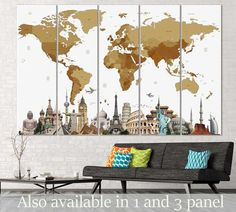 3d effect world map 702 ready to hang canvas print canvas print 3d effect world map 702 ready to hang canvas print canvas print zellart canvas arts pinterest 3d canvases and printing gumiabroncs Choice Image