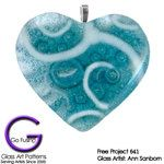 Create a Bubbling Glass Heart Pendant and inspire your friends! Free Glass Project 641