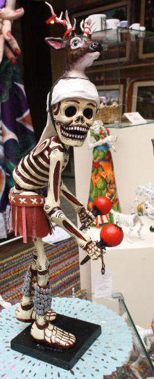 Artist Raymundo González Nieto - (paper mache) Day of the Dead skeleton- from Puentecillas, Guanajuato