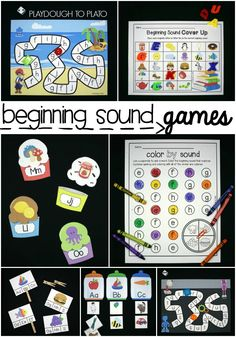 11 Beginning Sound Games! Lots of fun beginning sound activities and literacy centers for preschool and kindergarten.
