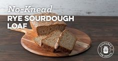 No-Knead Rye Sourdough Loaf Recipe - - Finally, a sourdough loaf that is rye! Once used to working with rye, you'll be able to throw this loaf together in no time at all! Sourdough Rye, Sourdough Recipes, Loaf Recipes, Yummy Recipes, Stitch Fix, Types Of Bread, Party Dishes, How To Make Bread, Waffles