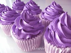 Ube cupcakes. pronounced ooh-beh, it's a purple yam found in the Philippines and very popular in desserts.