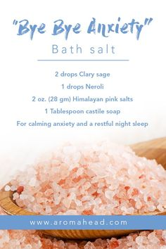 I love ending the day with a relaxing bath! Dim the lights and enjoy a warm bath. It's one of the greatest pleasures of winter. Find more bath salt Rose Essential Oil, Essential Oil Perfume, Essential Oil Blends, Doterra, Bath Salts Recipe, Diy Body Scrub, Homemade Beauty Products, Home Made Soap, Herbalism