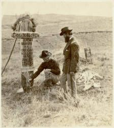 Decorating the graves on the Custer Battlefield, Little Big Horn :: Western History