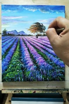 Small Canvas Paintings, Scenery Paintings, Easy Canvas Art, Small Canvas Art, Landscape Paintings, Canvas Painting Tutorials, Painting Videos, Art Painting Gallery, Art Drawings Sketches Simple