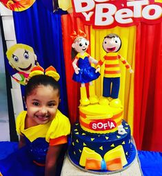 Pastel Bely y Beto 5th Birthday, Birthday Cake, Foto Pastel, Totoro, Minions, Ronald Mcdonald, Banana, Party, Dress