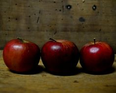 Food Photography Still Life RED Country Apples Trio Kitchen Food Fine Art Decor8x10 on Etsy