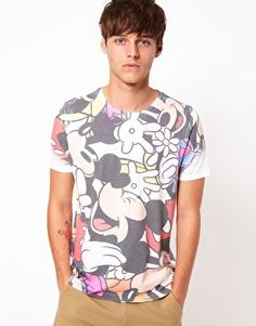 This is a freaken awesome shirt! ASOS T-Shirt With Mickey All Over Sublimation Print