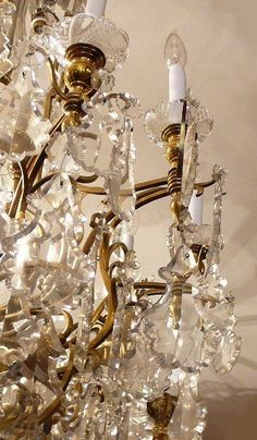 Antique French  Baccarat Crystal Chandelier