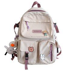Kawaii Bags, Kawaii Bunny, Cute School Bags, Modern Backpack, Mini Backpack Purse, Shoulder Backpack, Cute Backpacks, Moon Earrings, Cute Bags