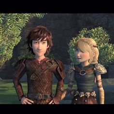 Hiccup and Astrid from Dreamworks Dragons: Race to the Edge