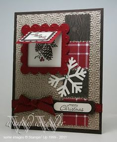 SU Peek a boo die - Mom this is really cute, maybe next year Christmas card for us! Homemade Christmas Cards, Christmas Cards To Make, Christmas Paper, Xmas Cards, Homemade Cards, Handmade Christmas, Holiday Cards, Christmas Decor, Merry Christmas