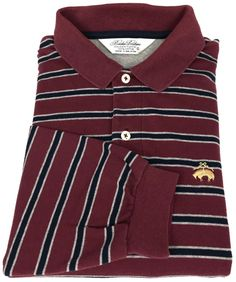 Brooks Brothers Golden Fleece Polo Shirt Small Mens Long Sleeve Striped Size S  #BrooksBrothers #PoloRugby