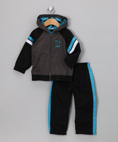 These cool threads will outfit any little punkster in a warm, coordinated style with a breathable jacket and track pants. Plus, the jacket features a kangaroo pocket for stashing gadgets and gear.