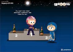 formula one cartoons | Continental Circus: Formula 1 em Cartoons - Singapura (GP Toons)