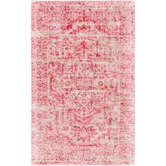 Surya Irina IRN100 Rectangle Indoor Area Rug Red / White - IRN1004-576