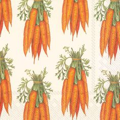 Carrots Paper Napkins, Luncheon Size Easter Tableware (($))