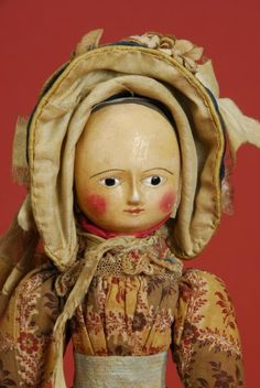 All Original Queen Anne Doll Victorian Dolls, Vintage Dolls, Doll Museum, Antique Toys, Antique Wax, Doll Painting, Bear Doll, Old Dolls, Wooden Dolls
