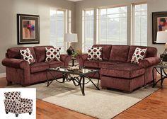 5300 Prism Elderberry Sofa/Chaise